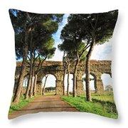 Roman Aqueducts Throw Pillow
