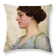 Roman Beauty Throw Pillow