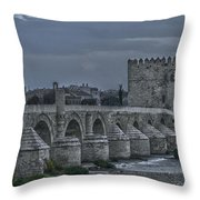 Roman Bridge In Cordoba II Throw Pillow