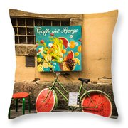 Roman Cafe' Throw Pillow