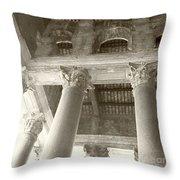 Roman Columns Throw Pillow