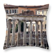 Roman Columns Throw Pillow