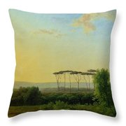 Roman Countryside Throw Pillow by Pierre Henri de Valenciennes