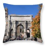 Roman Fall  Throw Pillow