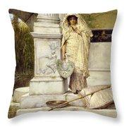 Roman Fisher Girl Throw Pillow