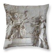 Roman Frieze Throw Pillow