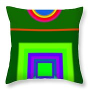 Roman Green Throw Pillow