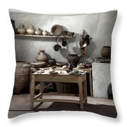 Roman Kitchen, 100 A.d Throw Pillow