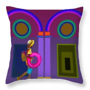 Roman Lavender Throw Pillow