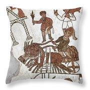 Roman Mosaic: 5th Century Throw Pillow