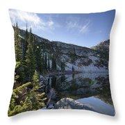 Roman Nose Lake Throw Pillow