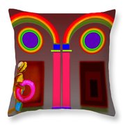 Roman Red Throw Pillow