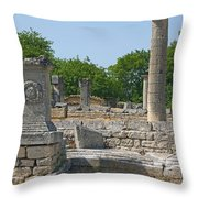 Roman Ruins Near St. Remy In Provence Throw Pillow