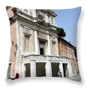 Roman Soldier In Red Throw Pillow