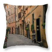 Roman Street Throw Pillow