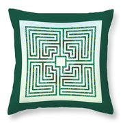 Roman - The Green Path Throw Pillow