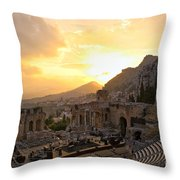 Roman Theater In Taormina IIi Throw Pillow