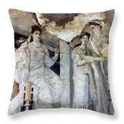 Roman Toilette Scene Throw Pillow
