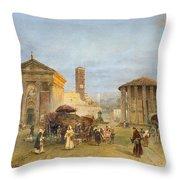 Roman Veduta Throw Pillow