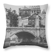 Roman Vintage Views Throw Pillow