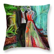 Romance Each Other Throw Pillow by TM Gand