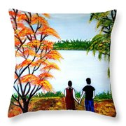 Romance In Autumn Throw Pillow