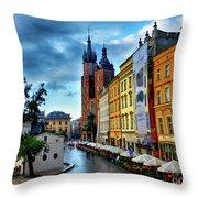 Romance In Krakow Throw Pillow