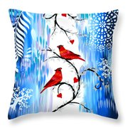 Romance In The Snow Throw Pillow