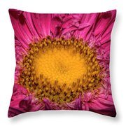 Romance Of Yellow And Shocking Pink Throw Pillow