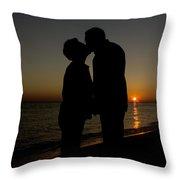 Romance On The Beach Throw Pillow