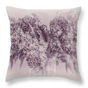 Romancing The Lilac Throw Pillow