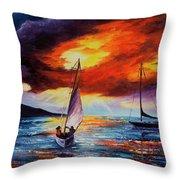 Romancing The Sail Throw Pillow