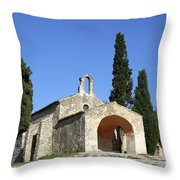 Romanesque Chapel Saint Sixte  Throw Pillow