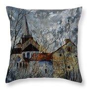 Romanesque Church  Throw Pillow