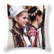 Romanian Beauty - 2 Throw Pillow