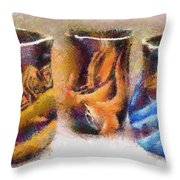 Romanian Vases Throw Pillow