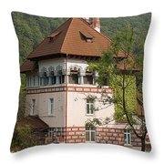Romanian Villa Throw Pillow