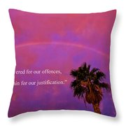 Romans 4 Throw Pillow