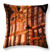 Romantic Amsterdam Throw Pillow