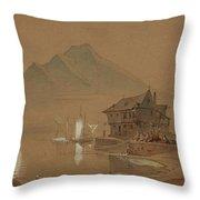 Romantic Bay Throw Pillow