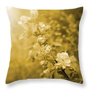 Romantic Blossoms With Bokeh Throw Pillow