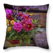 Romantic Bouquet 3 Throw Pillow