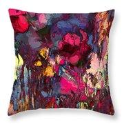 Romantic Garden Throw Pillow