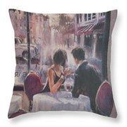 Romantic Meeting 2 Throw Pillow