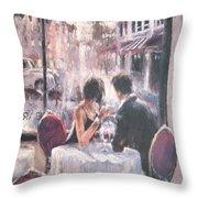 Romantic Meeting 3 Throw Pillow
