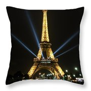 Romantic Night In Paris Throw Pillow