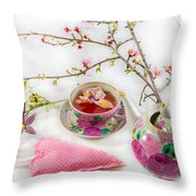 Romantic Pinks And Violets 1 Throw Pillow