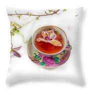 Romantic Pinks And Violets 2 Throw Pillow