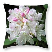 Romantic Rhododendron Throw Pillow