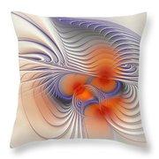 Romantic Sensual Lines Throw Pillow